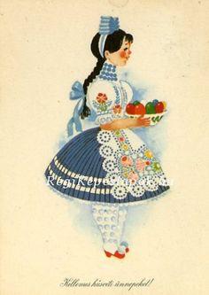 Folk Dance, Vintage Paper Dolls, Vintage Easter, Border Design, Hungary, Sweden, Scandinavian, Art Projects, Culture