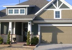 Hardiplank Siding | and shed dormer over entry