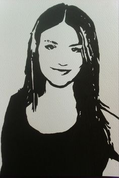 My #artwork #VictoriaJustice #sketch #drawing #portrait #painting #TV #movies #artists #watercolour on my #wedsite
