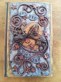 The Key To My Art Polymer Clay Art Journal Sketch by LynneManning, $52.00