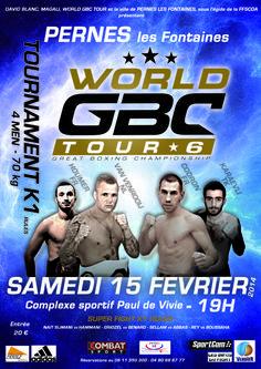 #WorldGBCTour 6 Tournament -70kg #K-1 4 men #Codron #MohamedHoumer #Gomez #SaitKaraevli Pernes Vaucluse France Europe