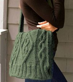 May be good for practicing knitting cables. Lion Brand Wool-Ease Chunky Sweater Bag: Knitting Projects: Shop | Joann.com