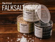 Falksalt Natural Cyprus Sea Salt comes in many different flavors. #LundsandByerlys