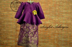 Absolutely Gorgeous Songket Aubergine.