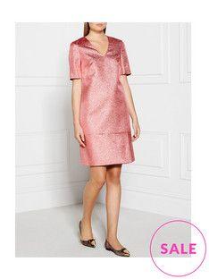 lk-bennett-thulani-metallic-v-neck-dress-pink