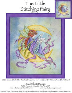 Joan Elliott - Cross Stitch Patterns The Little Stitching Fairy