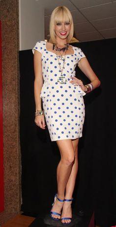 Dotted peplum dress