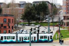 Tilt-shift makes the LINK look as small as it is - Tacoma, WA