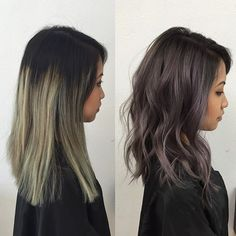 Deep Metallic  ️Toned w/ @fanola_usa and used @olaplex for hair insurance  #kycolor #kystyle #metallic #lilac #silver #ashy #rootyombre #waves #asianhair #colorist #beforeandafter #colorcorrection #sammiwang  #fanola #americansalon #behindthechair #authentichairarmy #modernsalon #maneinterest #losangeles #inlandempire #orangecounty #sgv #oribe #drytexturespray