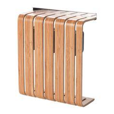 IKEA - RIMFORSA, Messenhouder, Biedt meer ruimte op het werkblad, omdat de messenhouder aan de muur wordt gehangen. Een magneet houdt de messen op hun plaats en zorgt ervoor dat ze scherp blijven. Gemaakt van slijtvaste materialen en daardoor geschikt voor dagelijks gebruik.