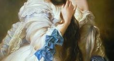 Art is not far from us. Franz Xaver Winterhalter, Oil Painting Gallery, Ruffle Blouse, Detail, Classic, Artist, People, Portraits, Hands
