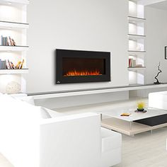 Wall Mount Electric Fireplace, this one had the best flame display from others I surveyed. Though may get mantle fireplace depending as overall bedroom design if finalized.