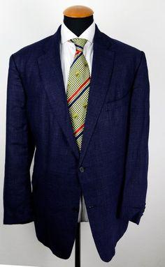 Eduard Dressler Blazer size 48R gr. 58 Wool Linen Big Guy Jacket Blue Unlined  in Clothes, Shoes & Accessories, Men's Clothing, Coats & Jackets | eBay!