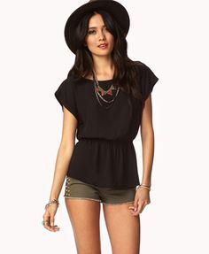 Cute sheer black top