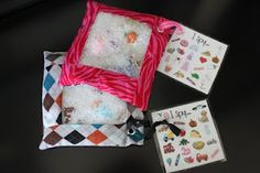 I Spy Bag {a tutorial} for Nadia. Sew a square around the grommet so the rice & items don't get caught behind it.
