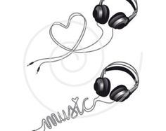 30 Best Ideas For Music Tattoo Headphones Awesome Headphones Tattoo, Music Headphones, Music Tattoo Designs, Music Tattoos, Tatoos, Note Tattoo, 1 Tattoo, Tattoo Fish, Music Heart