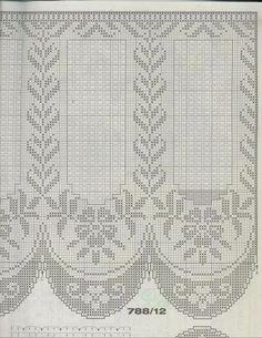 Burda Filet au Crochet - Zosia - Álbuns da web do Picasa Crochet Curtain Pattern, Crochet Curtains, Curtain Patterns, Crochet Tablecloth, Crochet Doilies, Crochet Lace, Filet Crochet Charts, Crochet Diagram, Knitting Charts