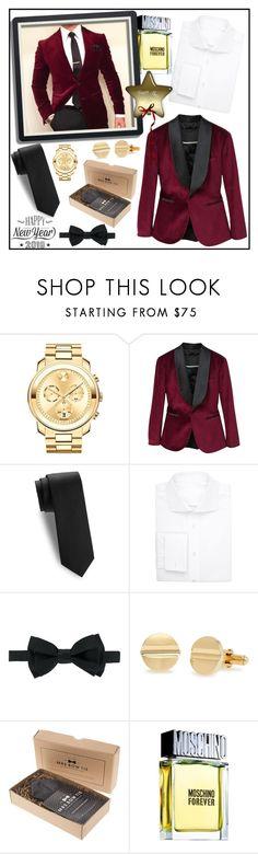 """MEN'S VELVET BLAZER!!!"" by kskafida ❤ liked on Polyvore featuring Movado, MANGO MAN, Saks Fifth Avenue, Uman, BOSS Hugo Boss, Lanvin, Moschino, Cricut, men's fashion and menswear"