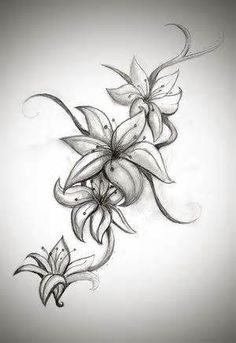 Asiatic lily tattoo