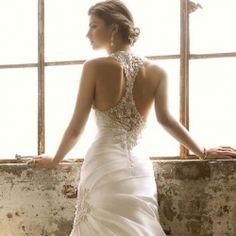 racer back wedding dress | Wedding