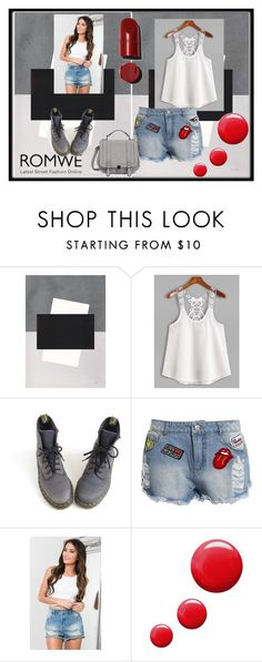 """White Contrast Lace Crochet Cami Top"" by anchesky ❤ liked on Polyvore featuring Dr. Martens, Sans Souci and Topshop"