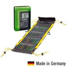 Dieses Solarladegerät ist das Hightec-Gadget für Handys, Digicams und mehr. Ein tolles Geschenk für Handynutzer, Globetrotter und Technik-Nerds. Die Steckdose die überall mit hinkommt.