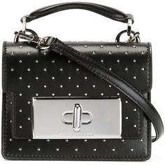 Marc Jacobs Mini Studded Mischief Crossbody Bag ($1,564) ❤ liked on Polyvore featuring bags, handbags, shoulder bags, black, mini crossbody, black crossbody handbag, black crossbody, crossbody shoulder bags and black crossbody purse