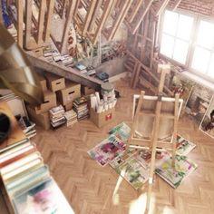 Art Studio Space Designs : Best Studio Decor Layouts. Interior ...