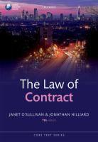 The law of contract / Janet O'Sullivan; Jonathan Hilliard - SNE Osu