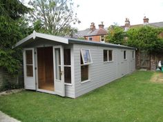 Combination Garden Shed & Summerhouse This large garden building is one of our Blakeney summerhouses, custom designed and partitioned to become three distinct areas; essentially, two sheds combined with the front summerhouse area. Our customer was looking for a multi-function outside space in which to relax and store garden equipment, together with having an area for additional storage to free space within the house.
