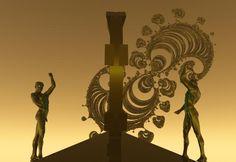"Bryce, Series ""Otherworld"", 1999/2000 Digital Art, Fantasy, Imagination, Fantasia"