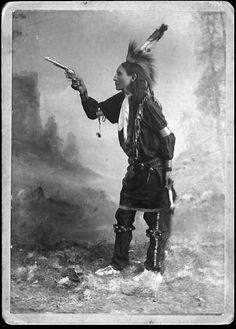 Brings Plenty Sioux Indian South Dakota Porcupine Tail Creek Pine Ridge Agency with the Kickapoo Indian Medicine Company Through Texas New Mexico  Dr. T.C. SoRille Manager Season 1894