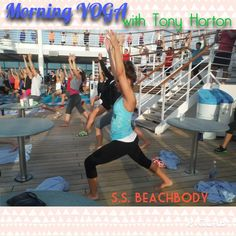 Success Club Trip Beachbody 2014 @alyssasardelli working out to #yoga on the #cruise #p90x