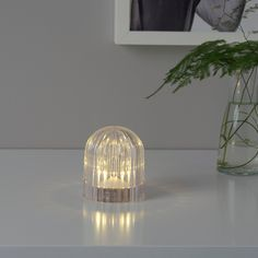 IKEA AKTIVERAD Dekobeleuchtung, LED - batteriebetrieben, transparent Led Decorative Lights, Lampe Decoration, Battery Operated, Scentsy, Room Decor Bedroom, Light Decorations, Light Colors, Light Bulb, Glow