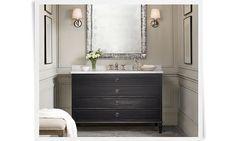 restoration+hardware+rooms | Maison Extra-Wide Single Vanity Sink Italian Carrara Marble Antiqued ...