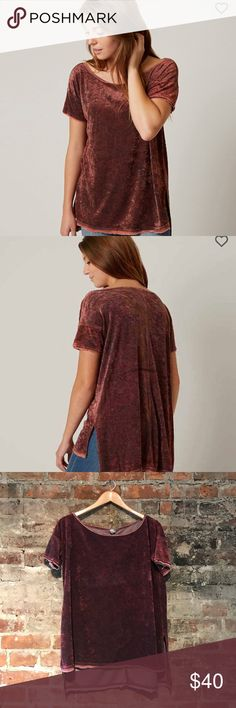 We the free velvet T-shirt size xs Perfectly slouchy velvet T-shirt. Size xs. Free People Tops Tees - Short Sleeve