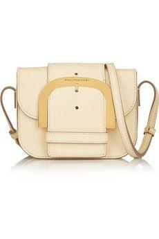 Stella McCartney Buckled faux leather shoulder bag | NET-A-PORTER