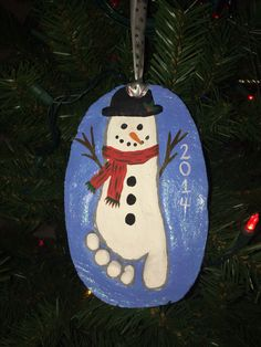 Salt Dough Ornament - Snowman Footprint More
