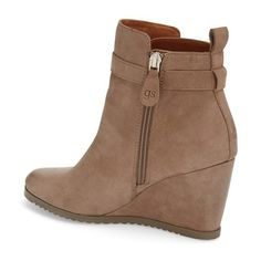 "Gentle Souls 'Gabril' WaterResistantWedgeBootie, 3"" heel ($250) ❤ liked on Polyvore featuring shoes, boots, ankle booties, ankle boots, high heel leather boots, short boots, leather wedge booties and wedge ankle booties"