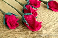 Crochet Rose Flower in a Closed Shape - Crochet Rose for Bouquet and Home Decoration - Wedding Bouquet Flowers - Wedding Flower Decorations