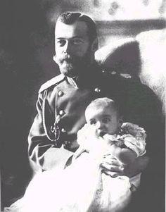 Tsar Nicholas II with Tsarevich Alexei