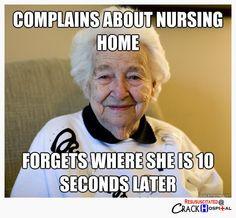 I just love geriatric nursing