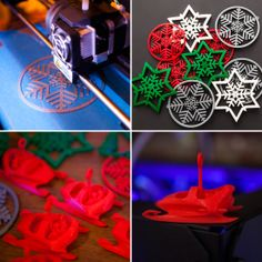 Check out these 3D printed ornaments from Brit MakeShop.