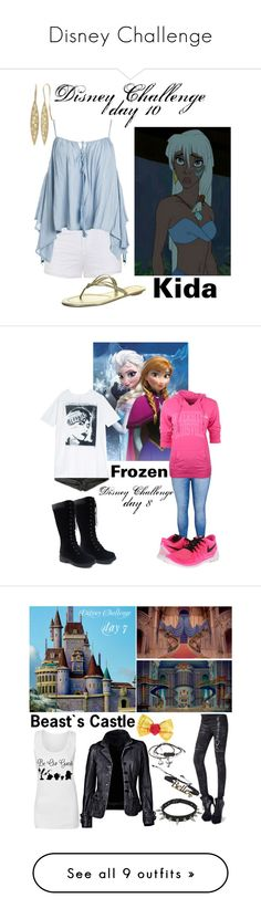"""Disney Challenge"" by stream5 ❤ liked on Polyvore featuring Topshop, Disney, Ally Fashion, Sans Souci, Levi's, R13, City Chic, Camp David, NIKE and Blanc Noir"