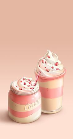 Strawberry Coffee Cream iPhone Wallpaper Lock Screen @PanPins