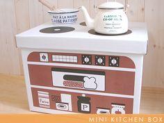 Cardboard box kitchen!