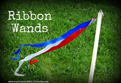 Sun Hats & Wellie Boots: DIY Ribbon Wands - Patriotic, Queen's Jubilee, or Olympic craft