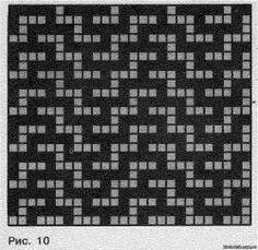Mosaic pattern, slip stitch