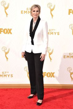 Jane Lynch at the 2015 Emmys. See what all the stars wore to the ceremony.