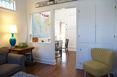 room divider - wall with cupboards